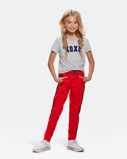 PANTALON DE JOGGING STRIPE DETAIL FILLE Rouge vif