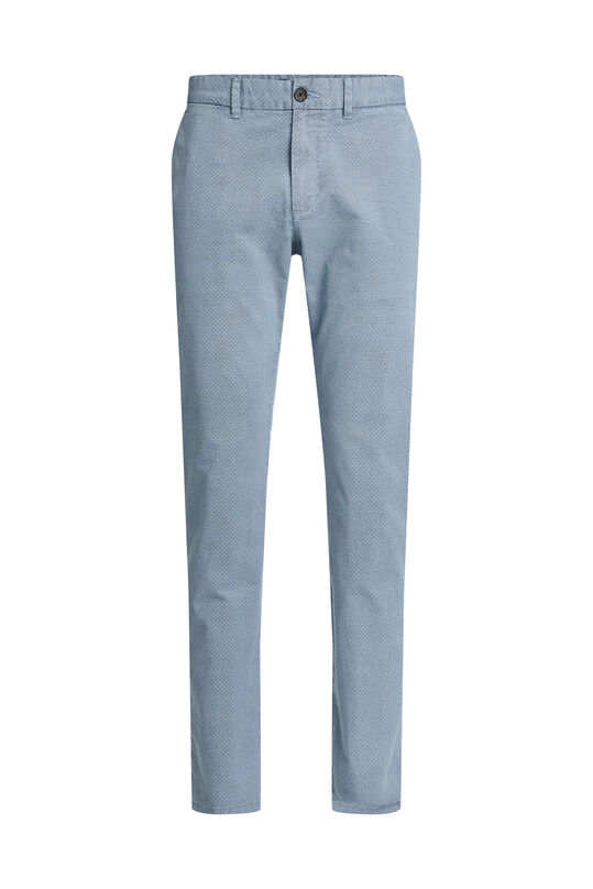 Chino slim fit à motif homme Bleu