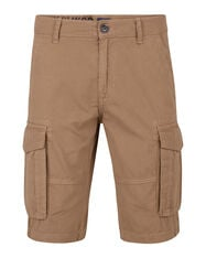 BERMUDA TAPERED RELAXED FIT CARGO HOMME_BERMUDA TAPERED RELAXED FIT CARGO HOMME, Brun