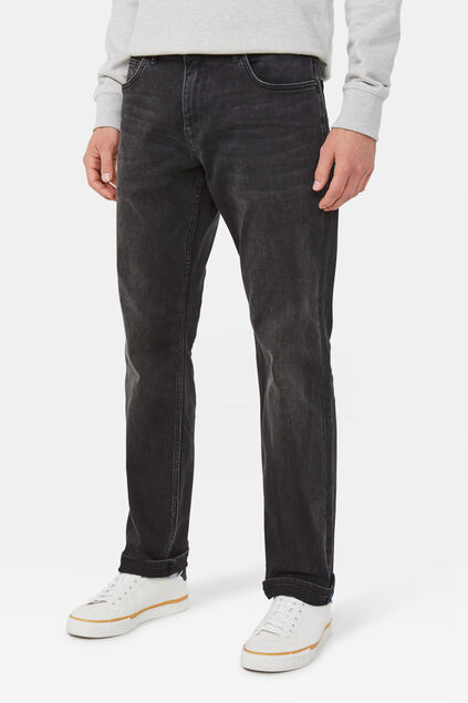 Jeans stretch relaxed tapered homme Noir