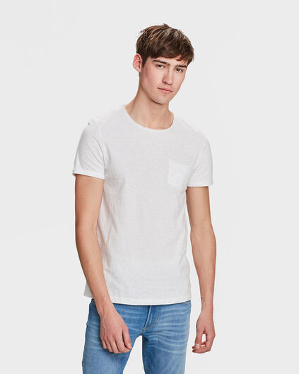 T-SHIRT SLIM FIT HOMME Blanc cassé