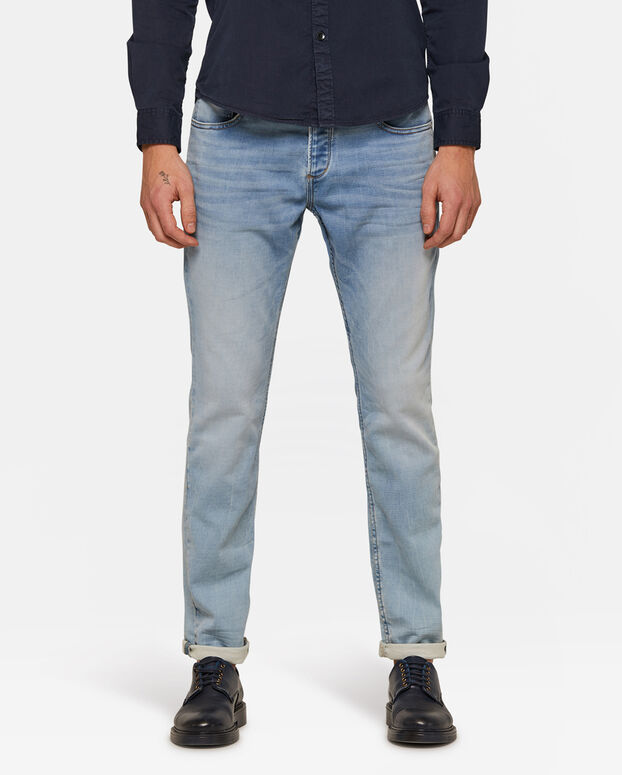 Jeans slim tapered homme Bleu eclair