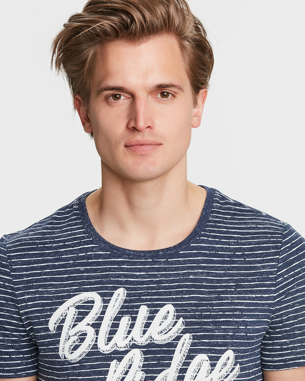 T-SHIRT BLUE RIDGE STRIPE HOMME Bleu marine