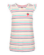 TOP STRIPED RUFFLE DÉTAILS FILLE_TOP STRIPED RUFFLE DÉTAILS FILLE, Blanc