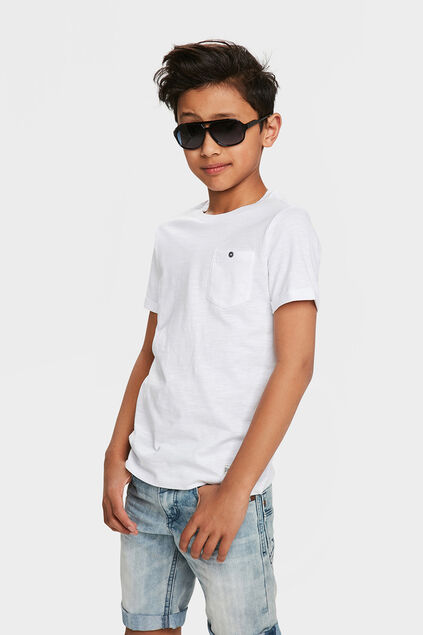 T-SHIRT ONE POCKET GARÇON Blanc