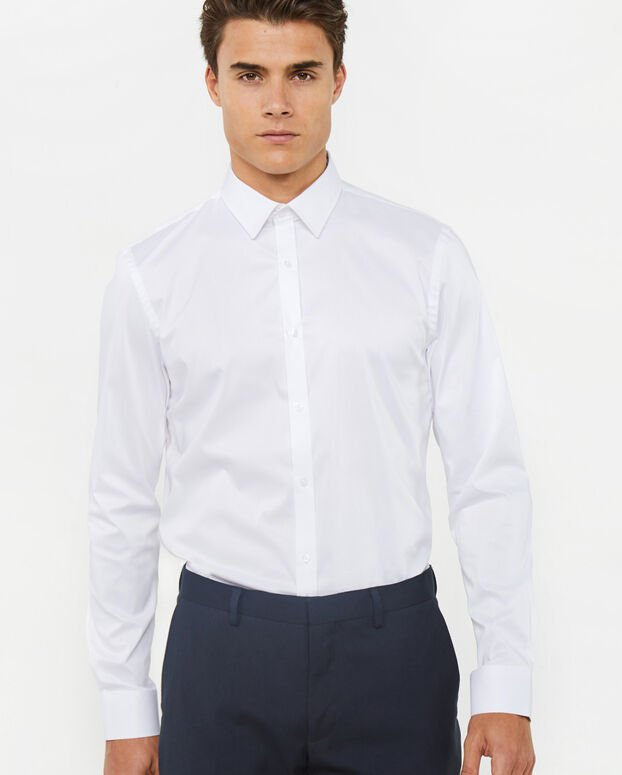 SLIM FIT CHEMISE HOMME Blanc