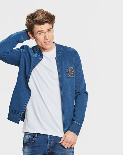 BLOUSON D'AVIATEUR SWEAT BLUE RIDGE HOMME Indigo