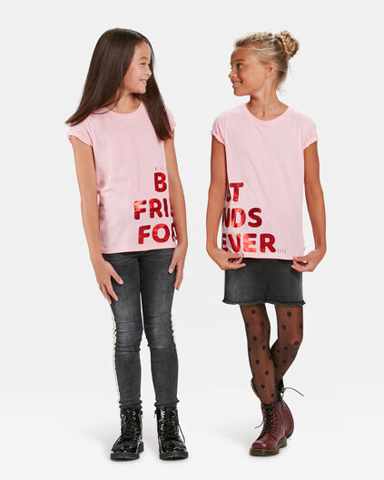 T-SHIRT BFF PRINT FILLE, PACK DE 2 Rose