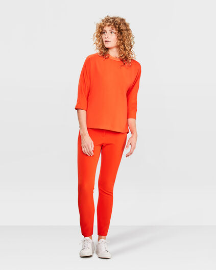 PANTALON SOLID SLIM FIT FEMME Orange
