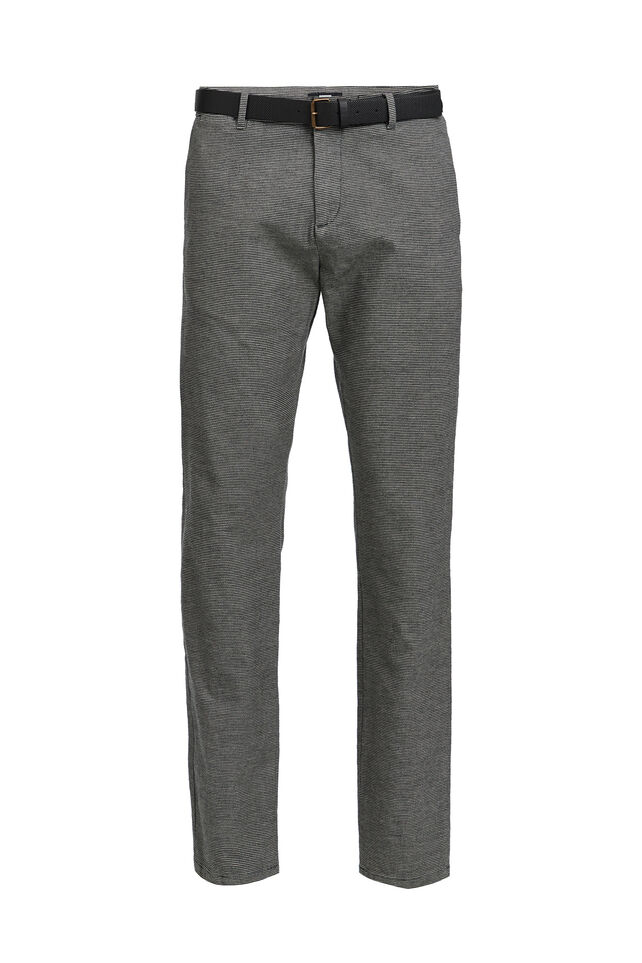 Chino slim fit à rayures homme Noir