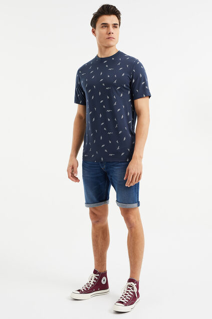 Short denim regular fit homme Bleu