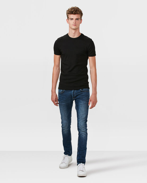 COTTON T-SHIRT HOMME Noir