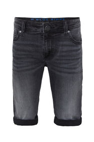 Short denim slim fit garçon_Short denim slim fit garçon, Noir