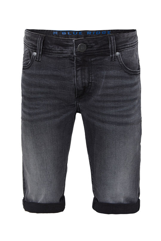 Short denim slim fit garçon Noir