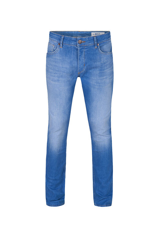 Jeans slim tapered comfort stretch homme Bleu eclair