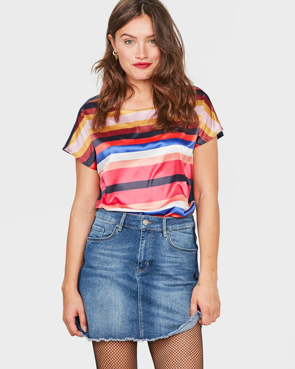 TOP STRIPED FEMME Rose