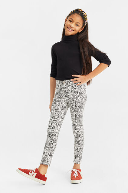 Jeggings super skinny fit à motif fille Imprimé
