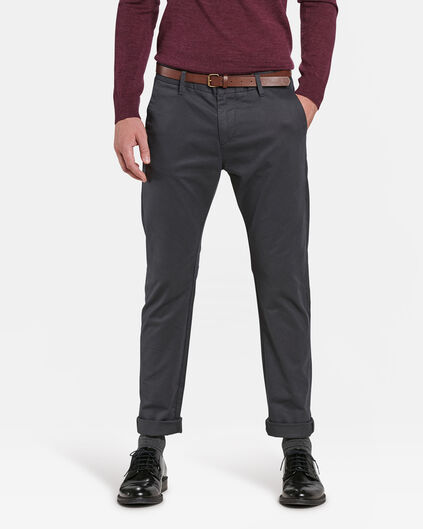 CHINO SKINNY FIT HOMME Gris foncé