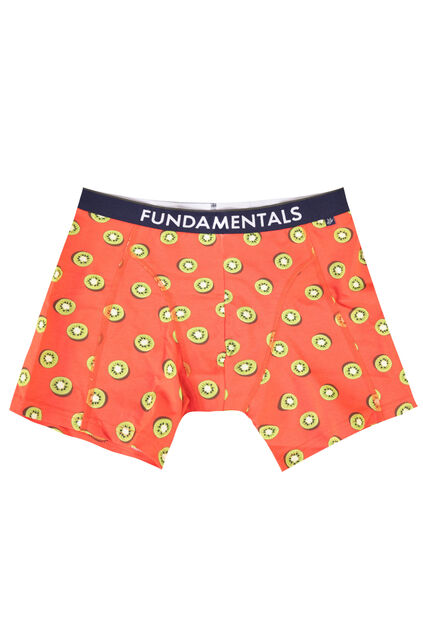 Boxer à motif kiwi homme Orange