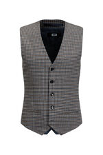 Gilet à carreaux Carey homme Gris