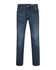 JEANS RELAXED TAPERED COMFORT STRETCH HOMME_JEANS RELAXED TAPERED COMFORT STRETCH HOMME, Bleu