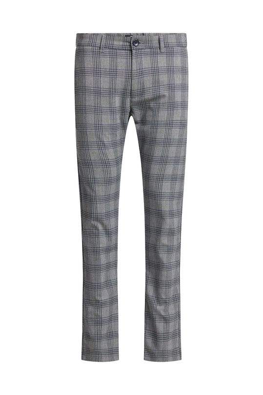 Pantalon slim fit à carreaux homme Bleu