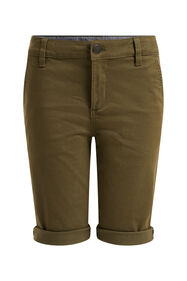 Short chino skinny fit garçon_Short chino skinny fit garçon, Vert mousse