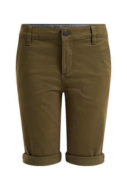 Short chino skinny fit garçon Vert mousse