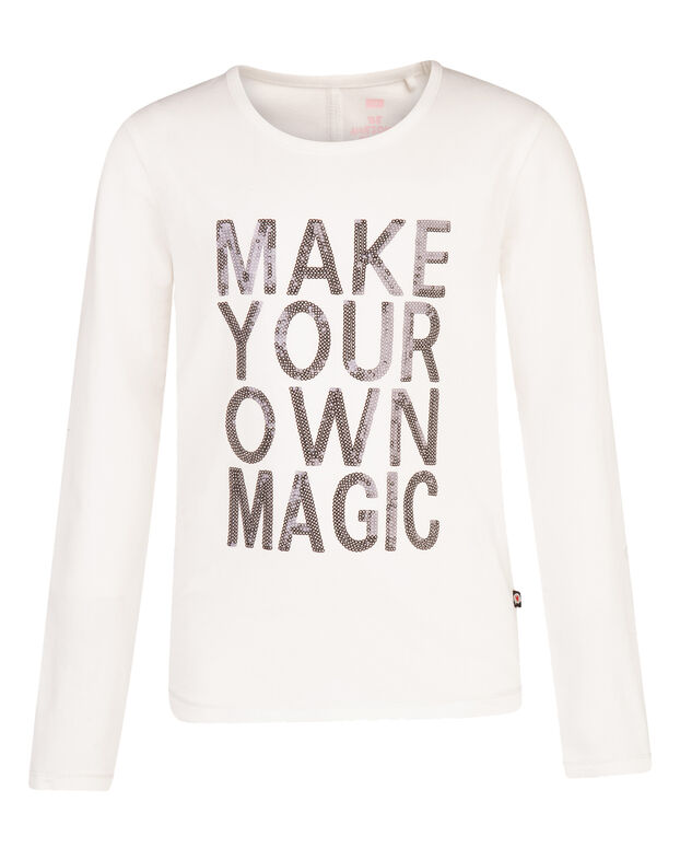 MAGIC T-SHIRT FILLE Blanc
