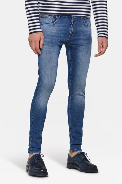 Jeans super skinny tapered homme Bleu