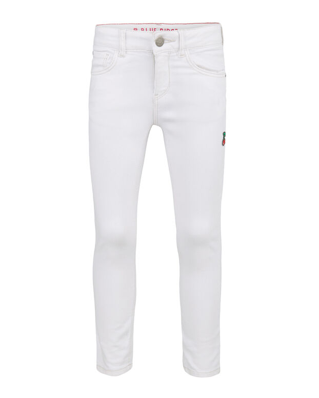 JEANS SUPER SKINNY DESTROYED FILLE Blanc