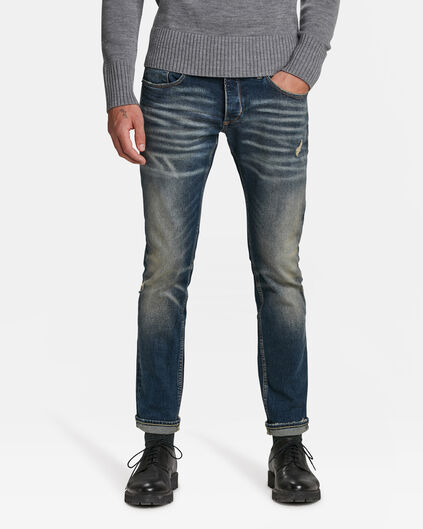 JEANS SLIM TAPERED COMFORT STRETCH SELVEDGE HOMME Bleu