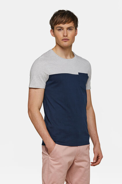 T-shirt colour block homme Blanc