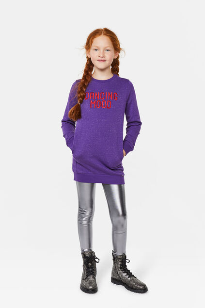 Robe sweat dancing fille Violet