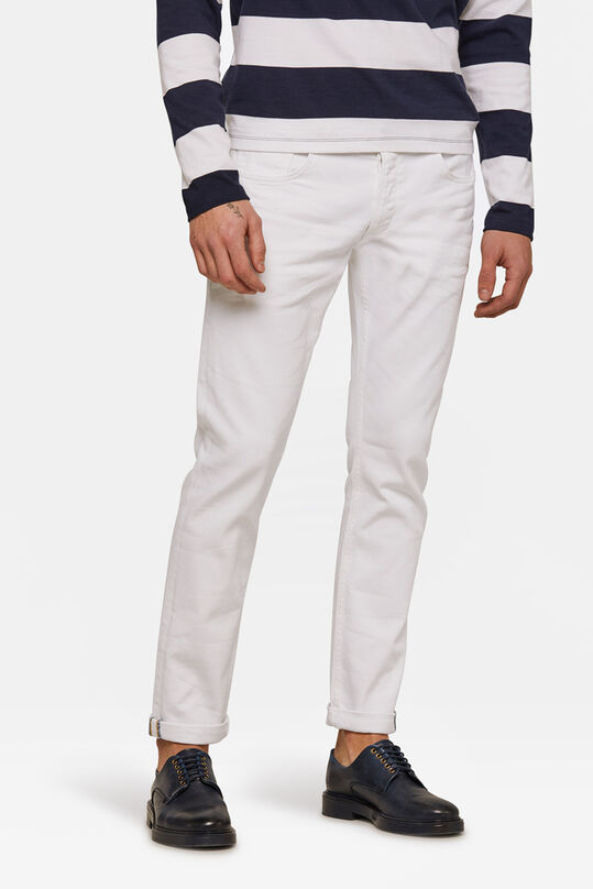 Jeans slim tapered comfort stretch homme Blanc