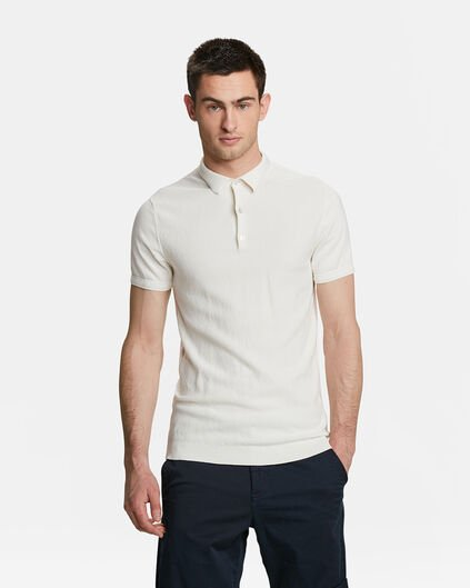 POLO KNITTED HOMME Blanc