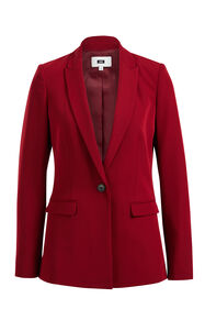 Blazer regular fit femme_Blazer regular fit femme, Rouge