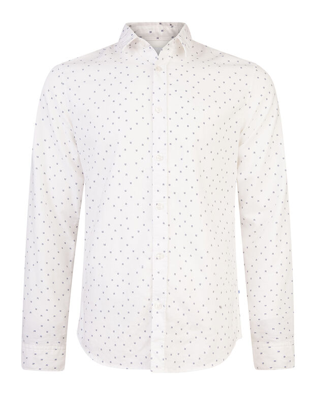 CHEMISE SLIM FIT BLUE RIDGE PRINT HOMME Blanc