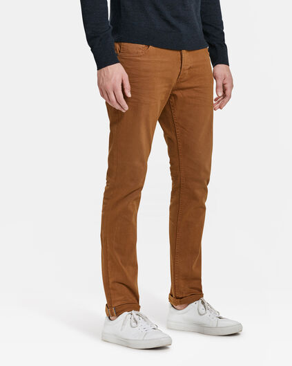 PANTALON SLIM TAPERED HOMME Brun Cannelle