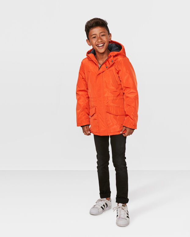 PARKA HOODED GARÇON Orange