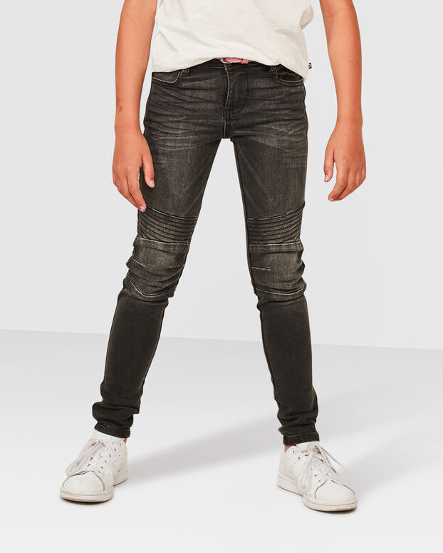 JEANS SUPER SKINNY POWER STRETCH FILLE Gris