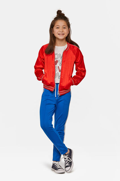 Pantalon de jogging sporty stripe fille Bleu vif