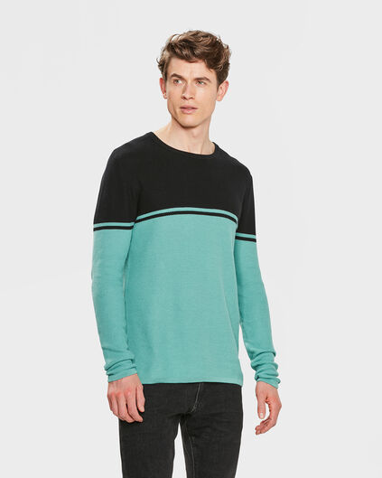 PULL STRUCTURE COLOUR BLOCK HOMME Noir