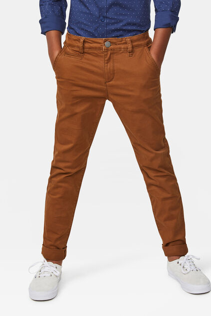 Chino slim fit garçon Brun
