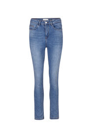 Jeans high rise skinny cropped femme_Jeans high rise skinny cropped femme, Bleu