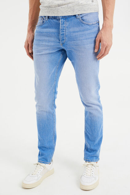 Jeans slim fit stretch confort homme Bleu