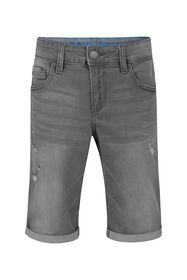 Short denim loose fit garçon_Short denim loose fit garçon, Gris