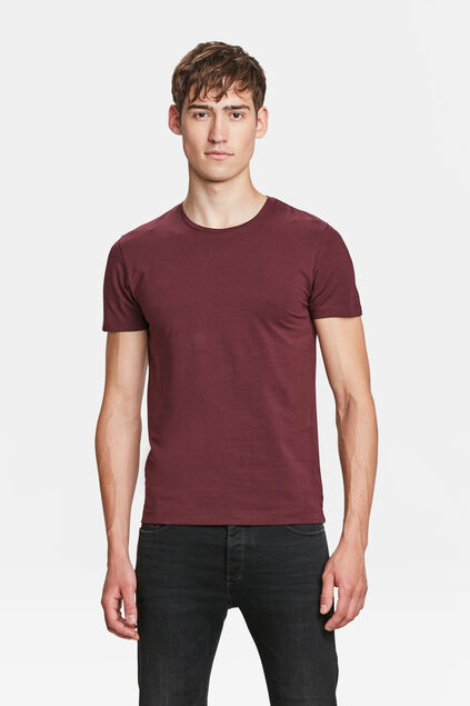 T-SHIRT HOMME BASIC Bordeaux