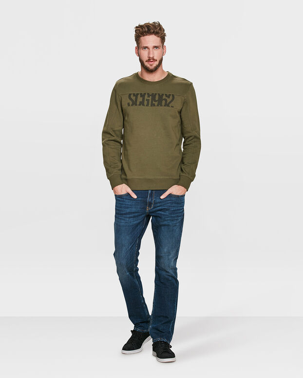 SWEAT-SHIRT TEXT PRINT HOMME Vert armee