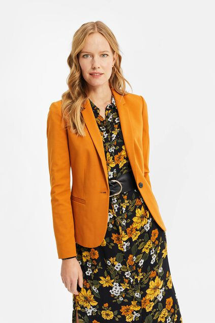 Blazer regular fit femme Brun rouille